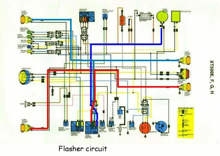 xt500 electrical2 here s the circuit path on the wiring diagram
