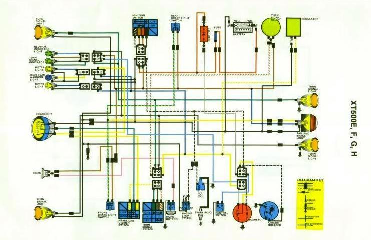 This Is The Full Wiring Diagram Including Ignition For North American Xt500 Efg And H Applies To All 1978 79 80 81 Xt500s Except: 1970 Yamaha Tt500 Wiring Diagram At Hrqsolutions.co
